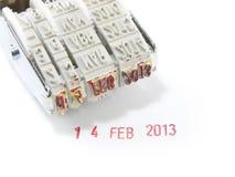 Stamper ετών μηνών 'Ημερομηνία' στοκ φωτογραφία