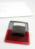 Stamper för kontobetalningsmottagare endast arkivfoton