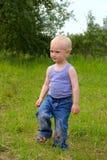 Stampfender Junge Stockbild