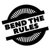Stampi la curvatura che le regole timbrano su bianco illustrazione di stock