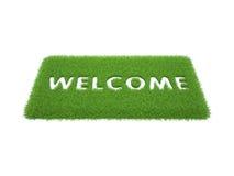 Stampi le parole sono benvenuto Immagine Stock