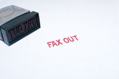 stamping  fax out Stock Image