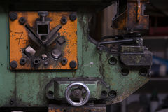 Stamping machine in a forge Stock Photo
