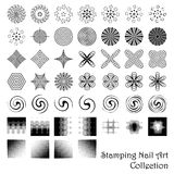 Stamping nail art elements or scrapbooking designs. Royalty Free Stock Photos