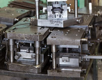 Free Stamping Tool. For Work On Metal. Heavy Tool At An Engineering P Royalty Free Stock Images - 73010729