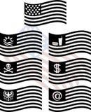 Stampini delle bandierine degli S.U.A. di fantasia Immagini Stock Libere da Diritti