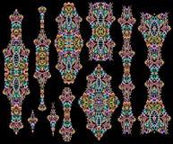 Stampini variopinti etnici - metta dei modelli illustrazione vettoriale