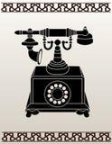 Stampino antico del telefono Fotografia Stock