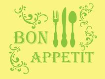 Stampino del appetit di Bon royalty illustrazione gratis