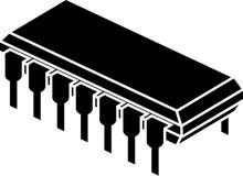 Stampino del chip Fotografia Stock