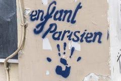 Stampino di Enfant Parisien dipinto Fotografia Stock Libera da Diritti