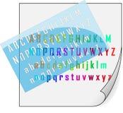 Stampino ed alfabeto Fotografia Stock