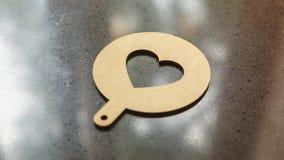 Stampino per caffè, cuore di arte del latte Fotografie Stock