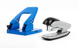 Stampler y perforador Fotografía de archivo libre de regalías