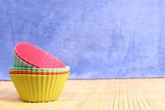Stampo per dolci del silicio Fotografie Stock