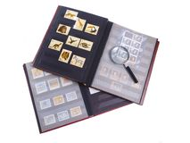 Stamps. Conteptual studio isolated photo for hobby advertising Stock Photography