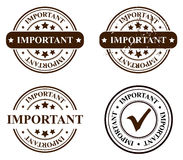 Stamps. Vector stamp - important, edytable and isolated Stock Photography