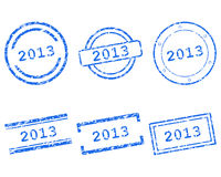 Stamps 2013. Detailed and accurate illustration of stamps 2013 Royalty Free Stock Photo