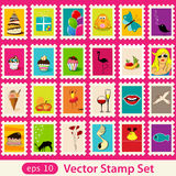 Stamps. This is  post stamps set Stock Images