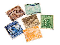 Stamps. Mail, stamp, stamps,  philately, post, collection, postage, postmark Stock Photos