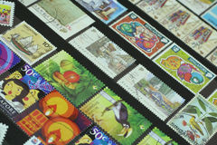 Stamps. Collections of Singapore Stamps Royalty Free Stock Photography