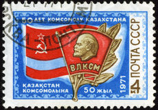 Stamps. Stamps isolated on blacke background,Russia Royalty Free Stock Photo