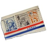 Stamps. Vintage american stamps Royalty Free Stock Images