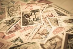 Stamps aged and retro Stock Photo