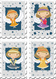Stamps with Angels royalty free illustration