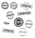 Stamps approved Royalty Free Stock Images