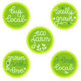 Stamps, badges, logo for organic food business Royalty Free Stock Image