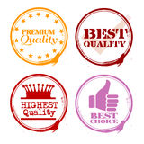Stamps of Quality Royalty Free Stock Photos