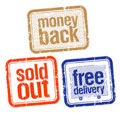 Stamps for best sales vector illustration