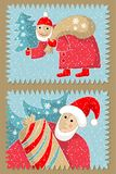 Stamps on Christmas subjects. Royalty Free Stock Photography