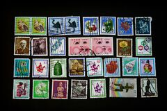 Free Stamps Collage Japanese Vintage Collectors Item Stock Photo - 178790730