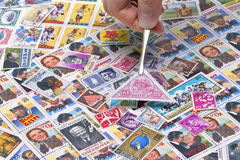 Stamps Collection Stock Photos