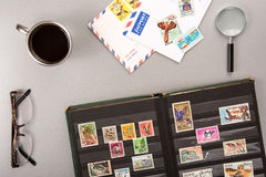 Stamps collection Royalty Free Stock Images