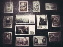 Stamps collection Stock Photo