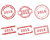 2015 stamps. Detailed and accurate illustration of m015 stamps Royalty Free Stock Photography