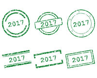 2017 stamps. Detailed and accurate illustration of m017 stamps Stock Images