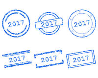 2017 stamps. Detailed and accurate illustration of m017 stamps Royalty Free Stock Image