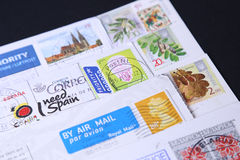 Stamps different countries Stock Image