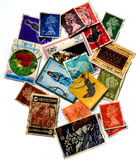 Stamps of different countries. Put together colorful stamps of different countries Britain,Kuwait,Pakistan,Oman,Bangladesh Stock Image