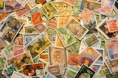 World Stamps Royalty Free Stock Photography
