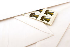 Stamps and envelopes Royalty Free Stock Image