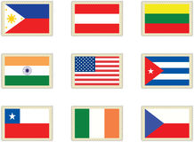 Stamps flags 4 Royalty Free Stock Image