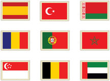 Stamps Flags 6 Royalty Free Stock Photos