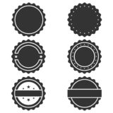 Stamps graphic icons set royalty free illustration