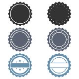Stamps graphic icons set stock illustration