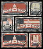 Stamps with the image of the US Capitol Stock Images